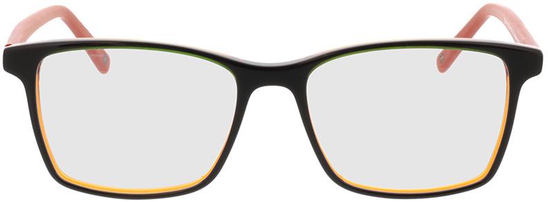 Picture of glasses model Marzio-grün schwarz orange in angle 0