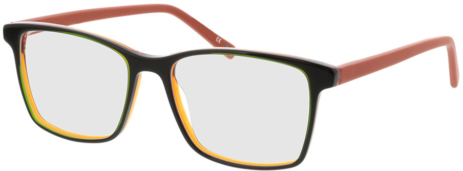 Picture of glasses model Marzio-grün schwarz orange in angle 330