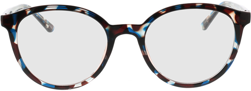 Picture of glasses model Rima-bleu-brun marbré in angle 0