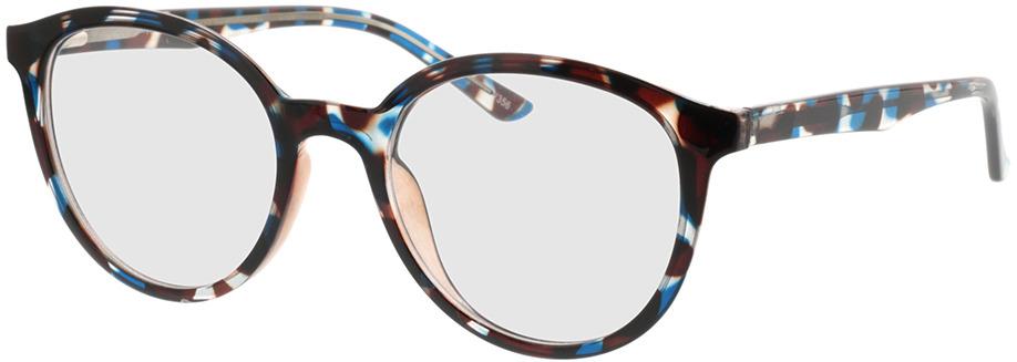 Picture of glasses model Rima-bleu-brun marbré in angle 330