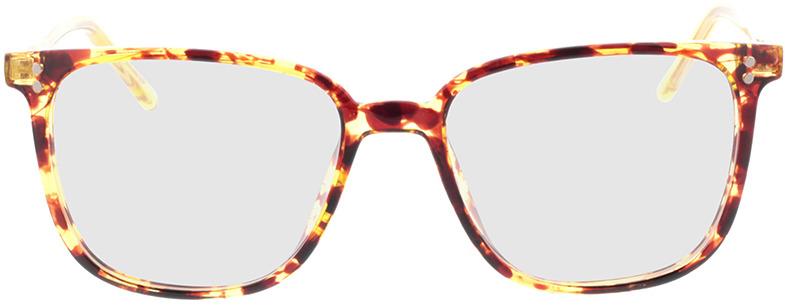 Picture of glasses model Lamesa-brun marbré/jaune-transparent in angle 0