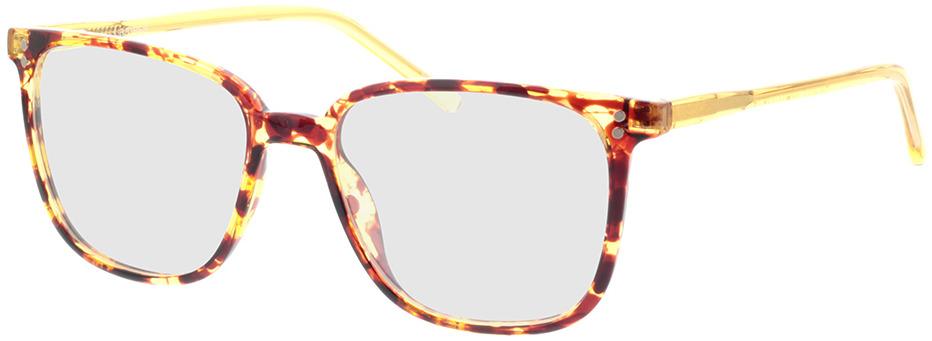 Picture of glasses model Lamesa-brun marbré/jaune-transparent in angle 330