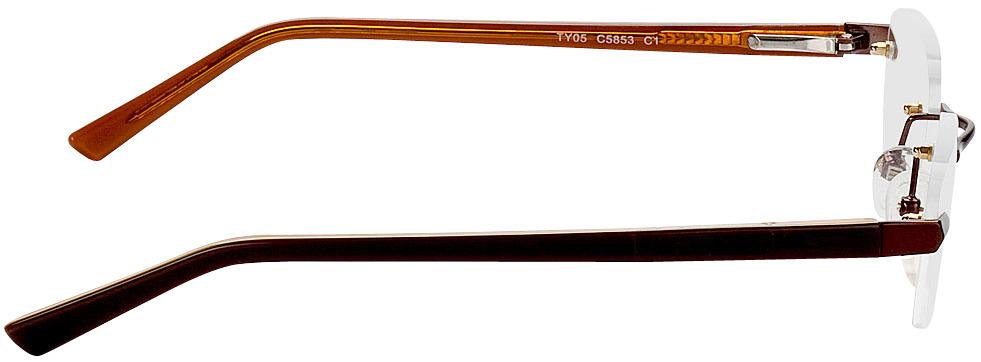 Picture of glasses model Bristol-braun in angle 90