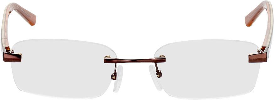 Picture of glasses model Bristol-braun in angle 0