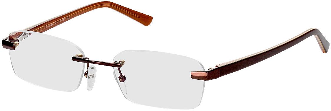 Picture of glasses model Bristol-braun in angle 330