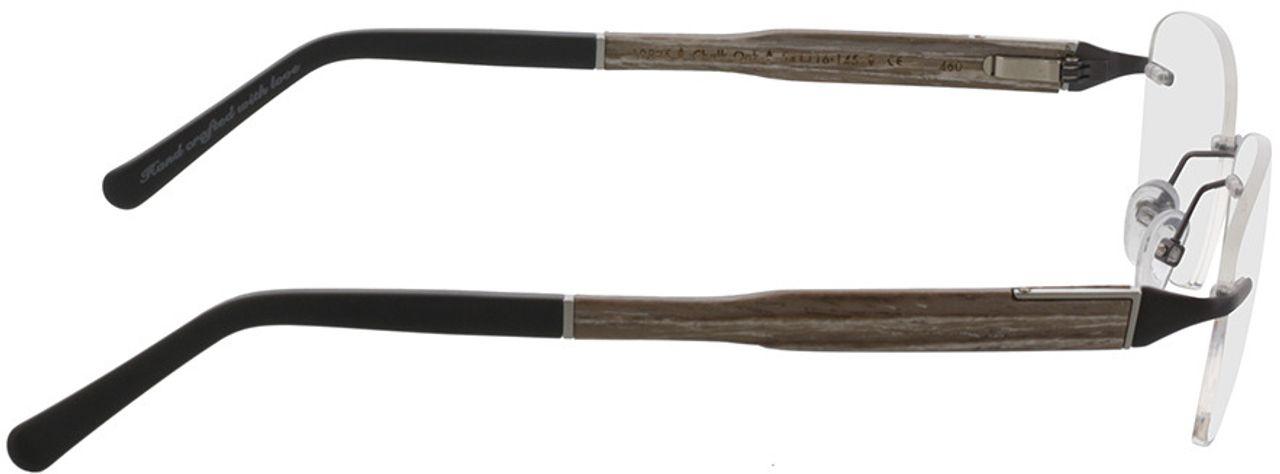 Picture of glasses model Wood Fellas Optical Thalkirchen III chalk oak 54-16 in angle 90