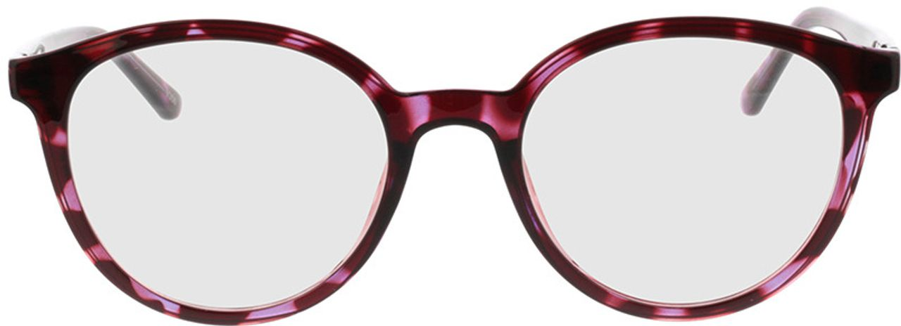 Picture of glasses model Rima-rot-lila-meliert in angle 0