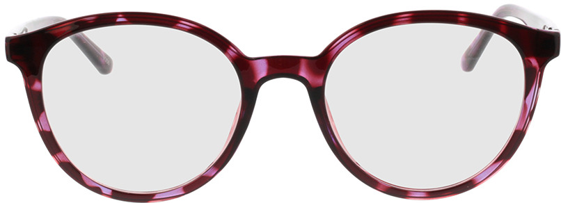 Picture of glasses model Rima-vermelho-lilás-mosqueado in angle 0