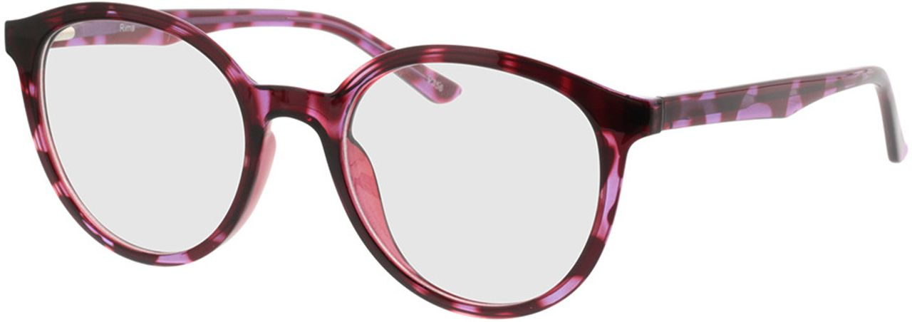 Picture of glasses model Rima-rot-lila-meliert in angle 330