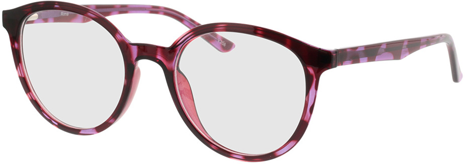Picture of glasses model Rima-vermelho-lilás-mosqueado in angle 330