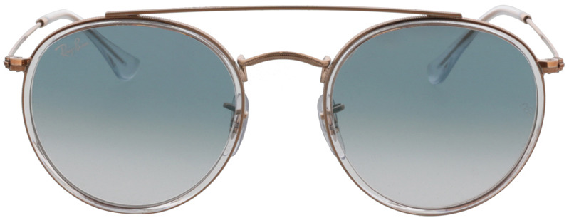 Picture of glasses model Ray-Ban Round Double Bridge RB3647N 90683F 51-22 in angle 0