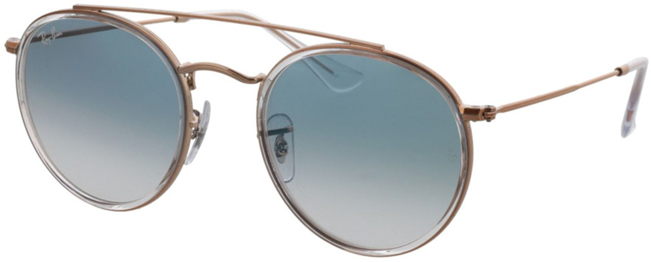 Picture of glasses model Ray-Ban Round Double Bridge RB3647N 90683F 51-22 in angle 330