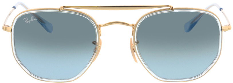 Picture of glasses model Ray-Ban RB3648M 91233M 52-23 in angle 0