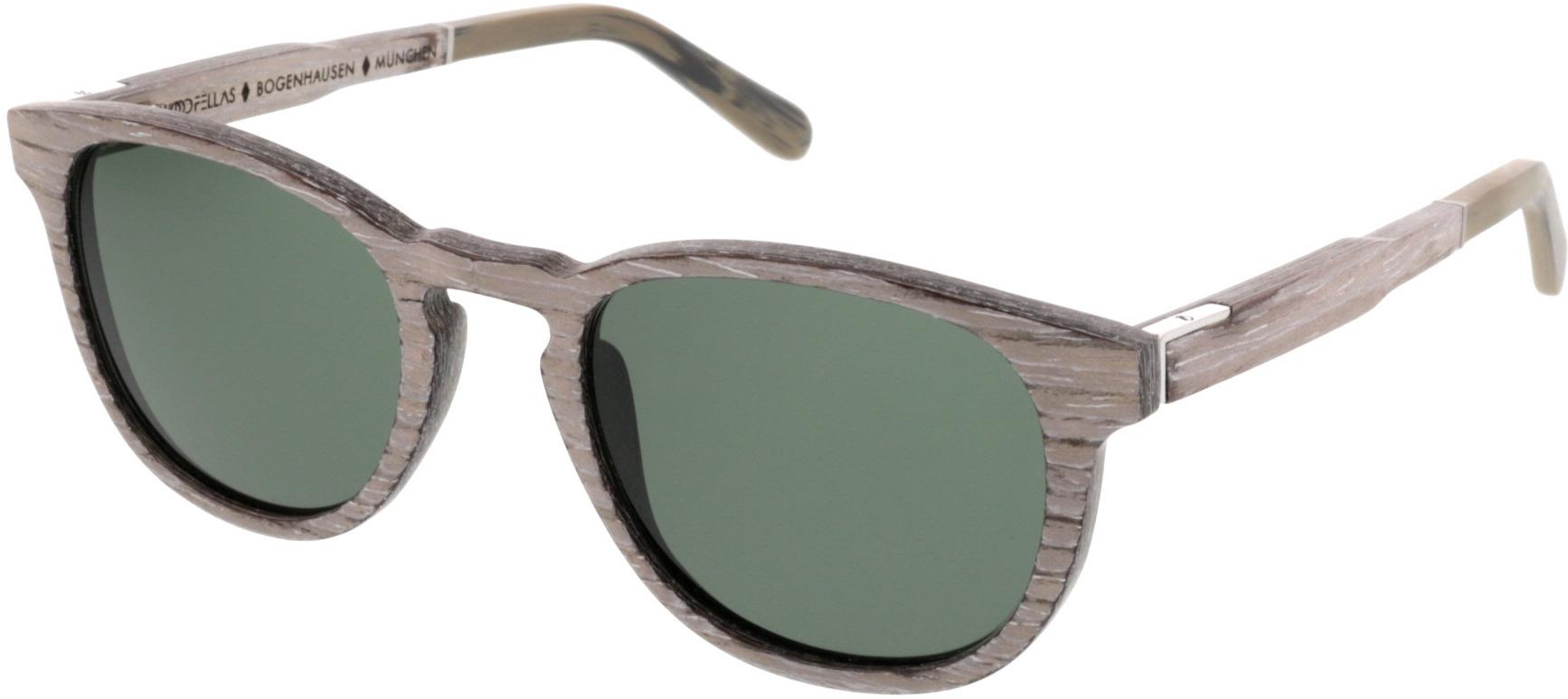 Picture of glasses model Wood Fellas Sunglasses Bogenhausen chalk oak 49-21 in angle 330
