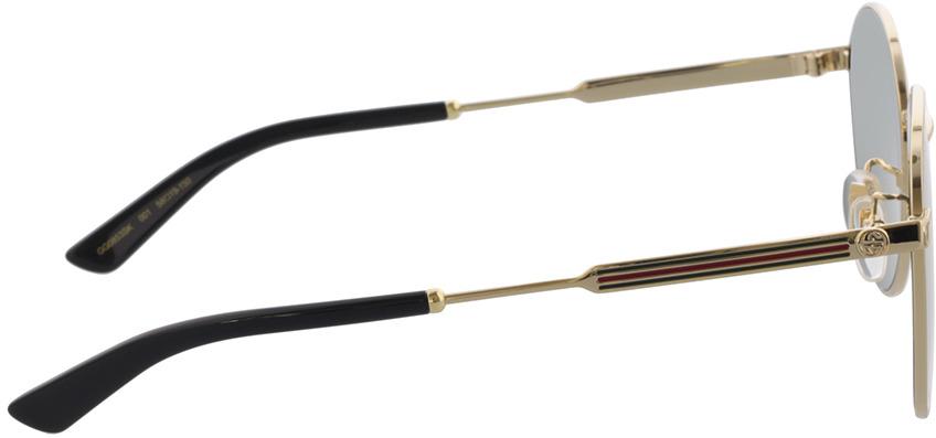 Picture of glasses model Gucci GG0853SK-001 58-19 in angle 90
