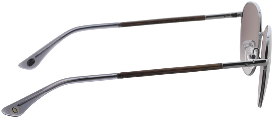 Picture of glasses model Wood Fellas Sunglasses Horizon curled/silver 52-20 in angle 90