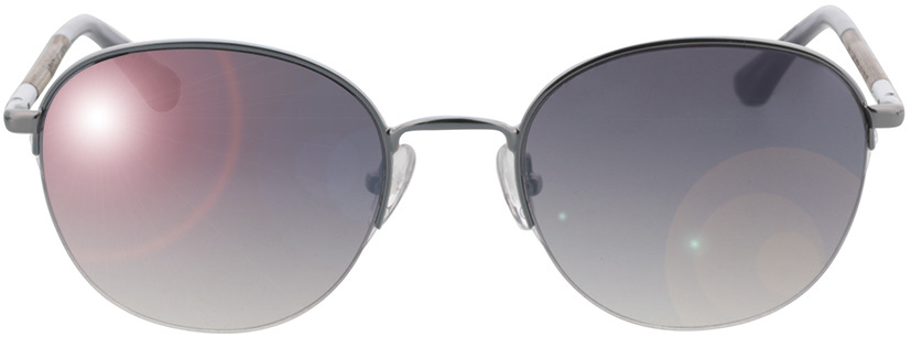 Picture of glasses model Wood Fellas Sunglasses Horizon curled/silver 52-20 in angle 0