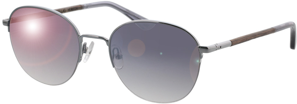 Picture of glasses model Wood Fellas Sunglasses Horizon curled/silver 52-20 in angle 330