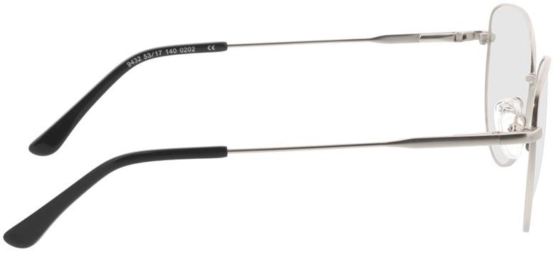 Picture of glasses model Resia-matt silber in angle 90