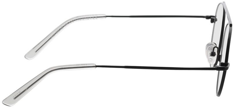 Picture of glasses model Hico-matt schwarz/transparent in angle 90