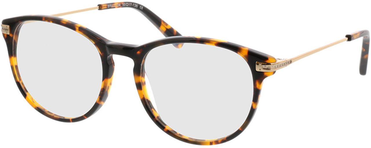Picture of glasses model Elverum-dunkle hornoptik/gold in angle 330