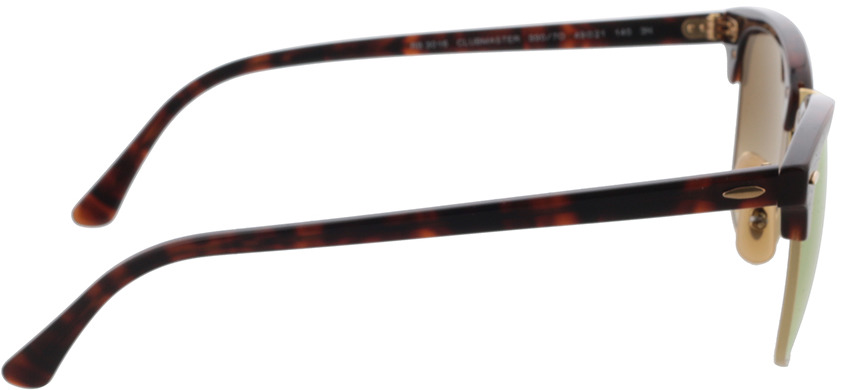 Picture of glasses model Ray-Ban Clubmaster RB3016 990/7O 49-21 in angle 90