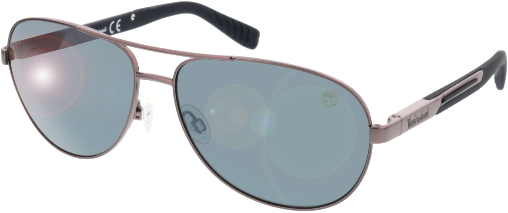 Picture of glasses model Timberland TB9058 08D brillant poudremetal 61 14 in angle 330