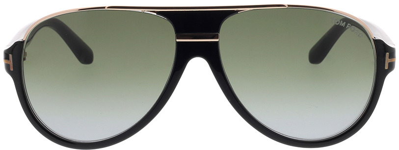 Picture of glasses model Tom Ford FT0334 01P 59 14 in angle 0