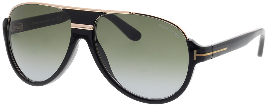 Picture of glasses model Tom Ford FT0334 01P 59 14 in angle 330