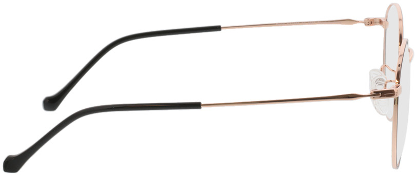 Picture of glasses model Charlottenburg-schwarz/roségold in angle 90