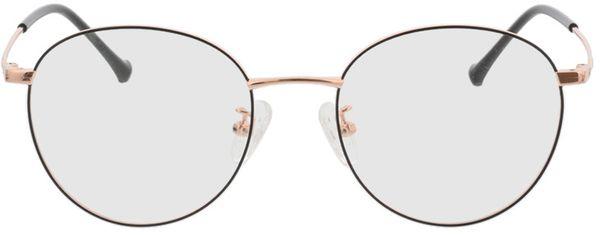Picture of glasses model Charlottenburg-black-copper in angle 0