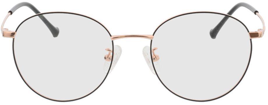 Picture of glasses model Charlottenburg-schwarz/roségold in angle 0