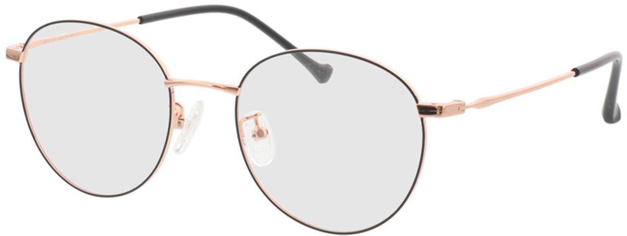 Picture of glasses model Charlottenburg-schwarz/roségold in angle 330