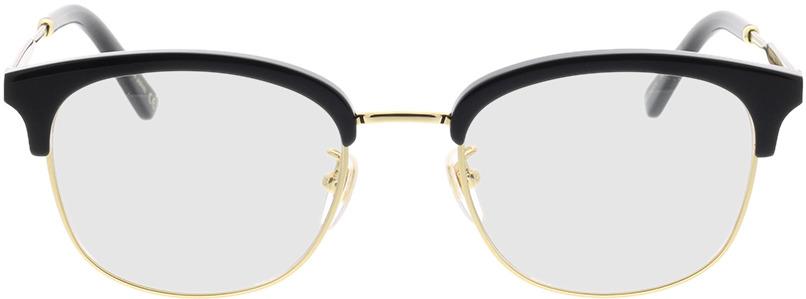 Picture of glasses model Gucci GG0590OK-001 52-20 in angle 0