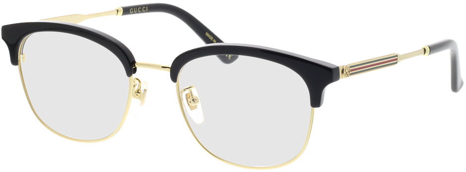 Picture of glasses model Gucci GG0590OK-001 52-20 in angle 330