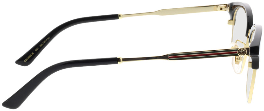 Picture of glasses model Gucci GG0590OK-001 52-20 in angle 90