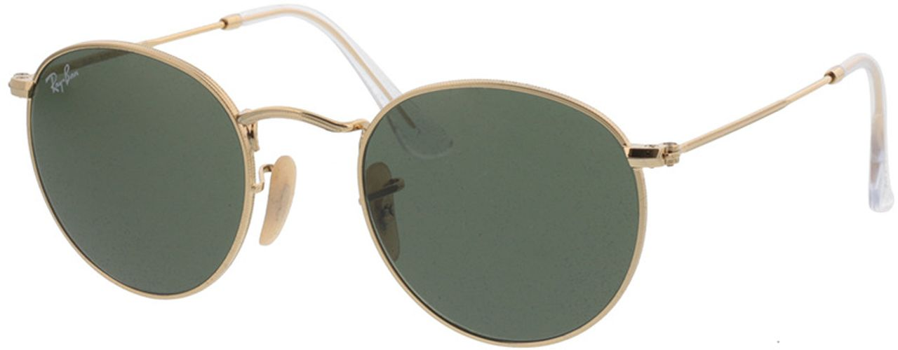 Picture of glasses model Ray-Ban Round Metal RB 3447 001 47-21 in angle 330