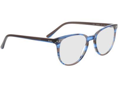 Brille Everett-blau-grau-gestreift