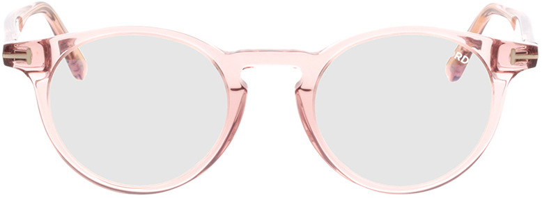 Picture of glasses model Tom Ford FT5557-B 072 in angle 0