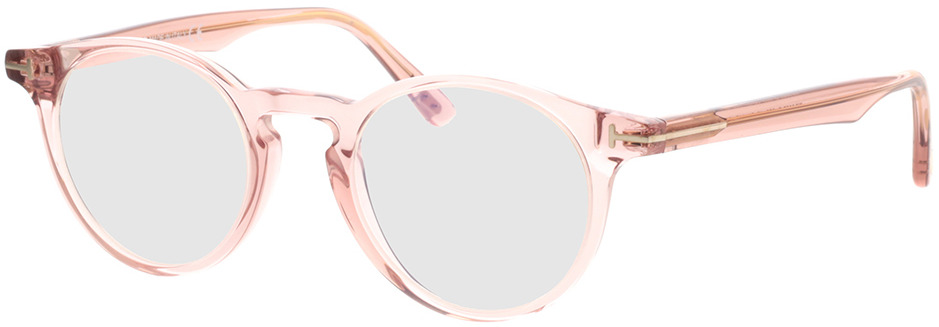 Picture of glasses model Tom Ford FT5557-B 072 in angle 330