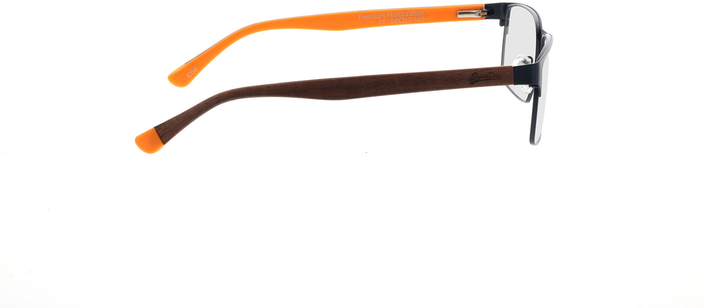 Picture of glasses model Superdry SDO Osamu 006 matte blue/wood/yellow 56-17 in angle 90