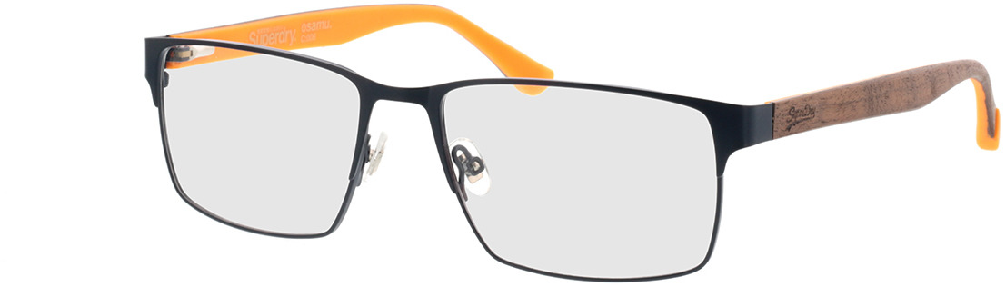Picture of glasses model Superdry SDO Osamu 006 matte blue/wood/yellow 56-17 in angle 330