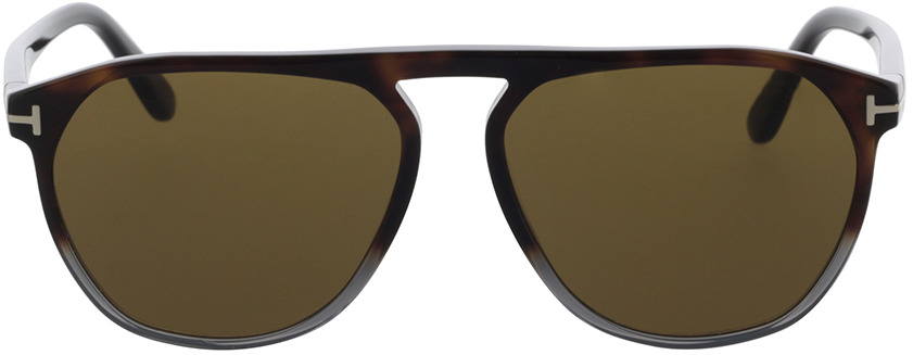 Picture of glasses model Tom Ford FT0835 55J 58-15 in angle 0