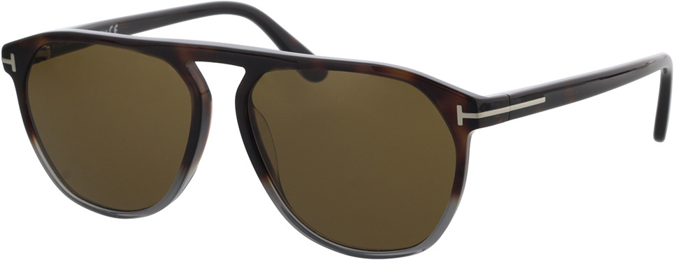 Picture of glasses model Tom Ford FT0835 55J 58-15 in angle 330