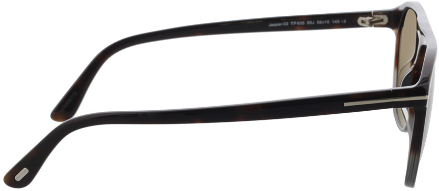 Picture of glasses model Tom Ford FT0835 55J 58-15 in angle 90