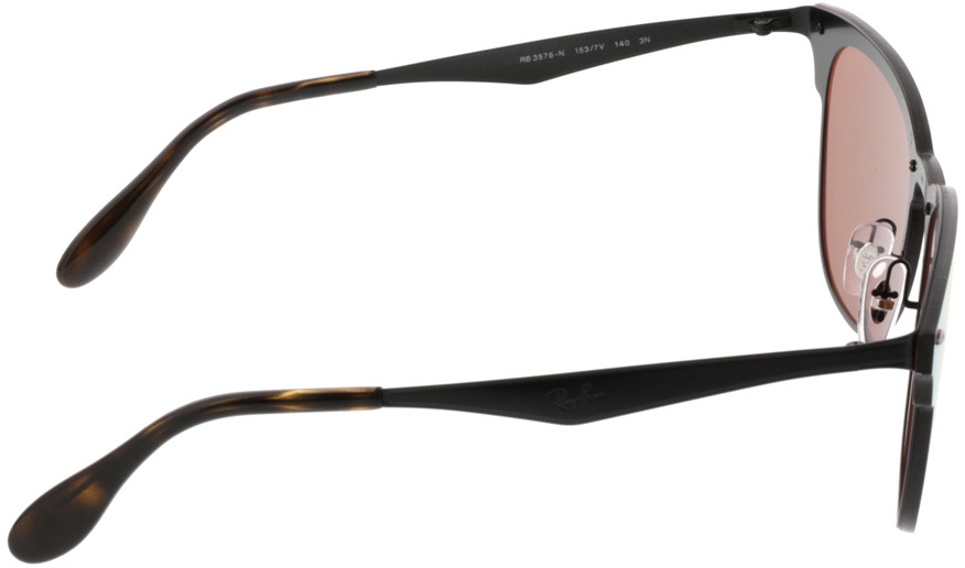 Picture of glasses model Ray-Ban Blaze Clubmaster RB3576N 153/7V 47-22 in angle 90
