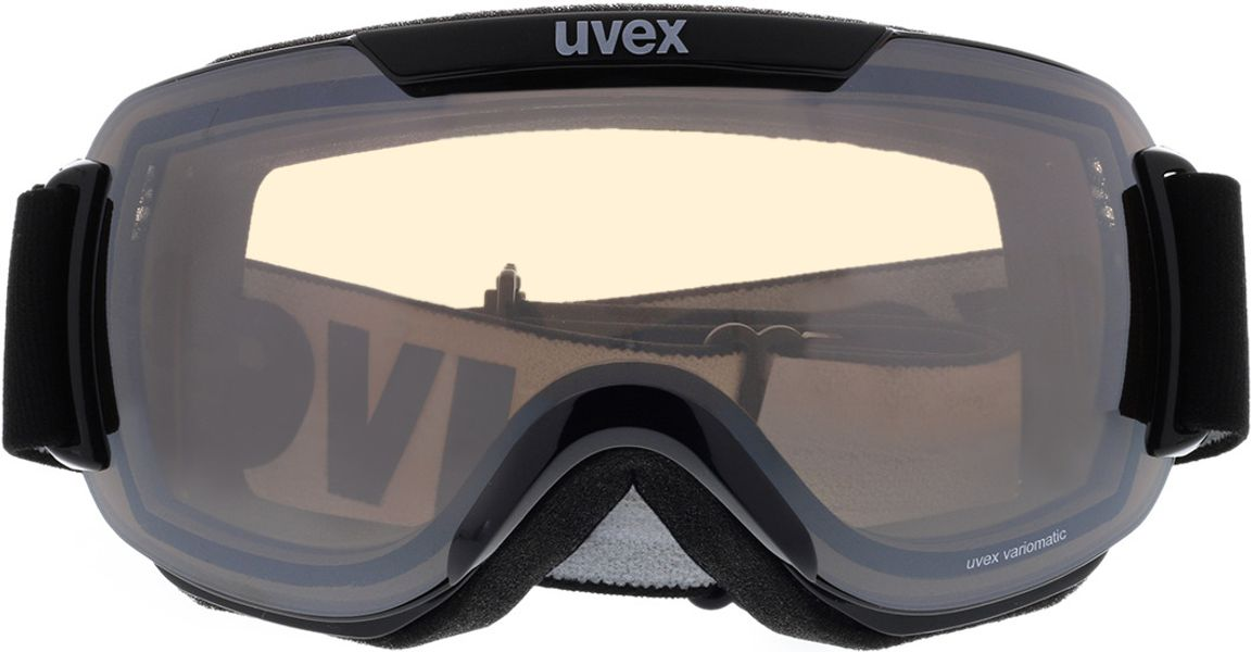Picture of glasses model Uvex Skibrille Downhill 2000 V Black/Vario in angle 0
