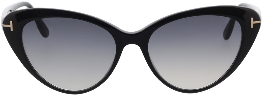 Picture of glasses model Tom Ford FT0869 01B 56 in angle 0