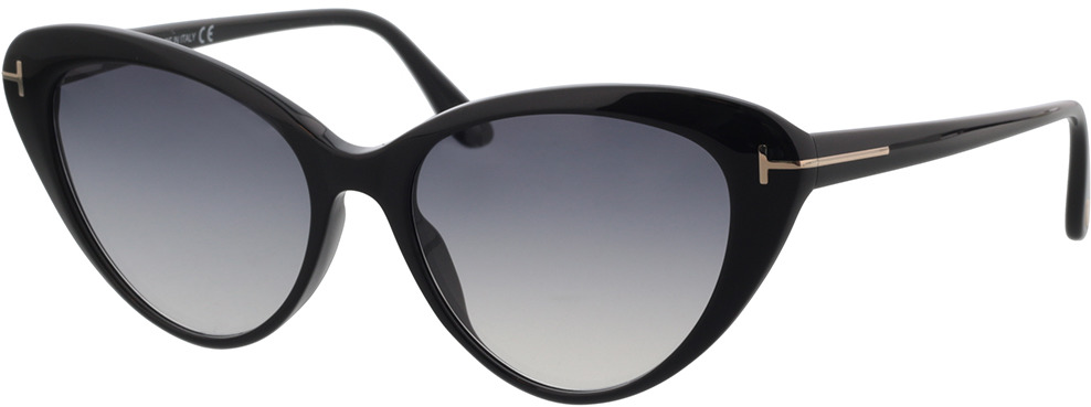 Picture of glasses model Tom Ford FT0869 01B 56 in angle 330
