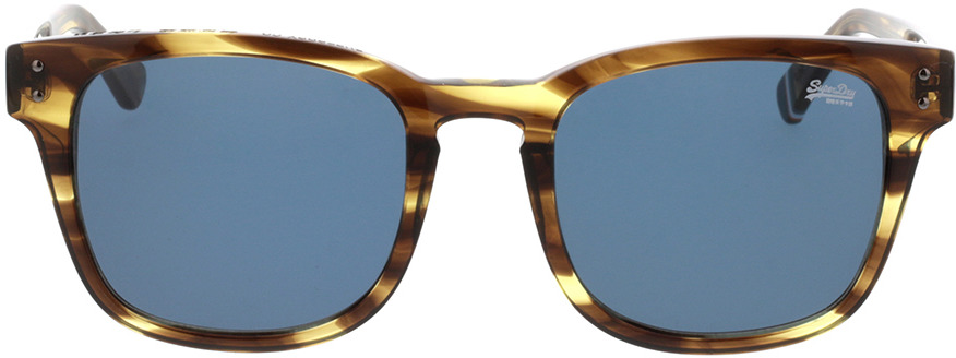 Picture of glasses model Superdry SDS Montego 109 bruin gestreift 53-21 in angle 0